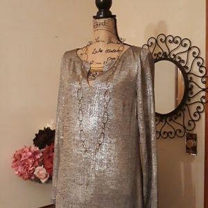 Vince Camuto Silver Shimmer Dress